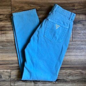 Vintage Guess Denim  Powder Blue Jeans Size 27